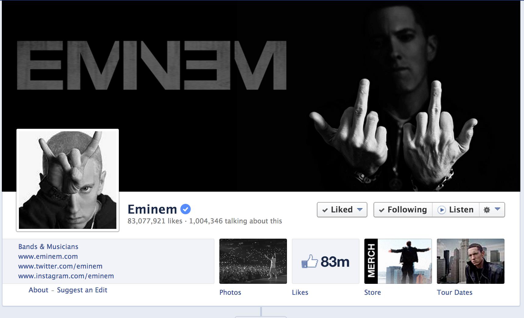 Eminem on Facebook