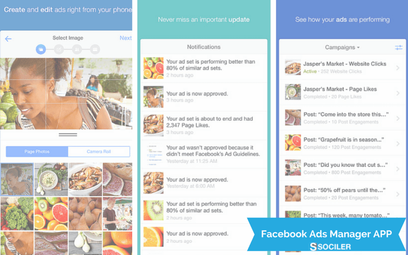 Facebook Advertising now mobile with Ads Manager App