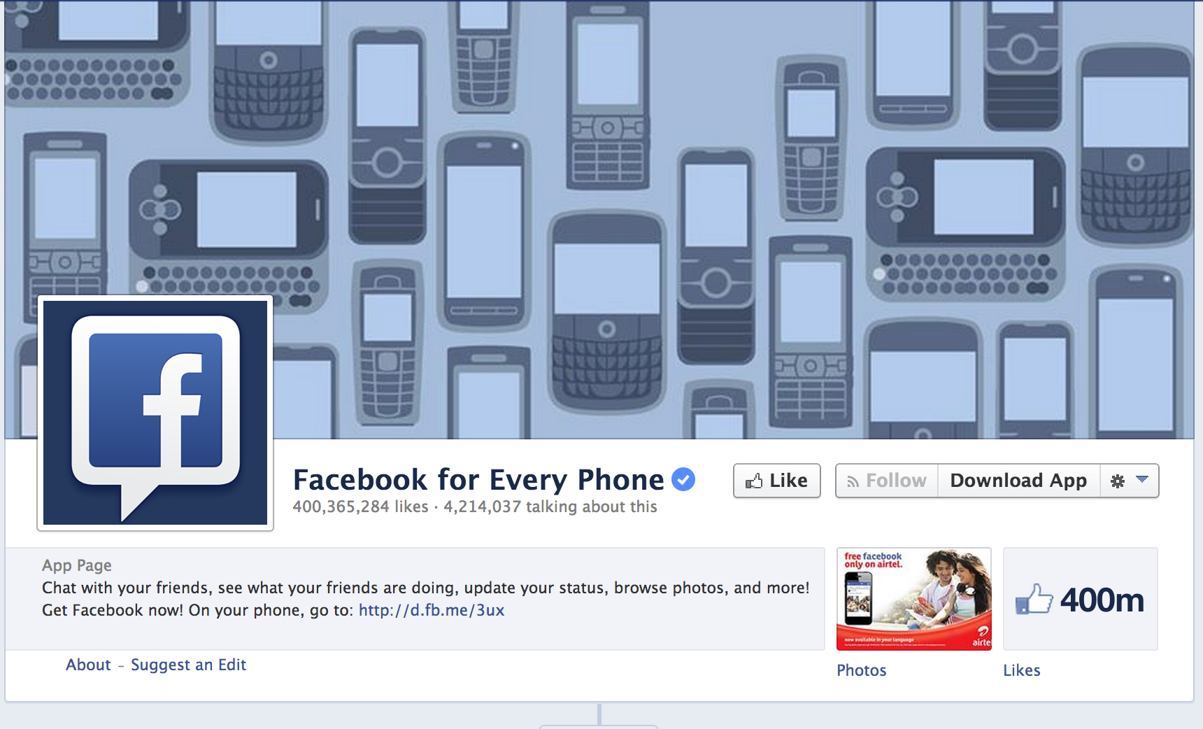 Facebook for Every Phone on Facebook