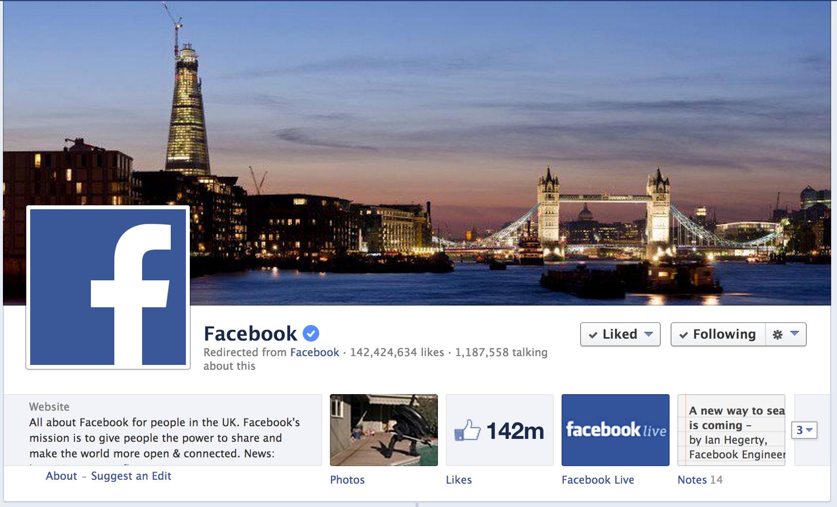 Facebook on Facebook