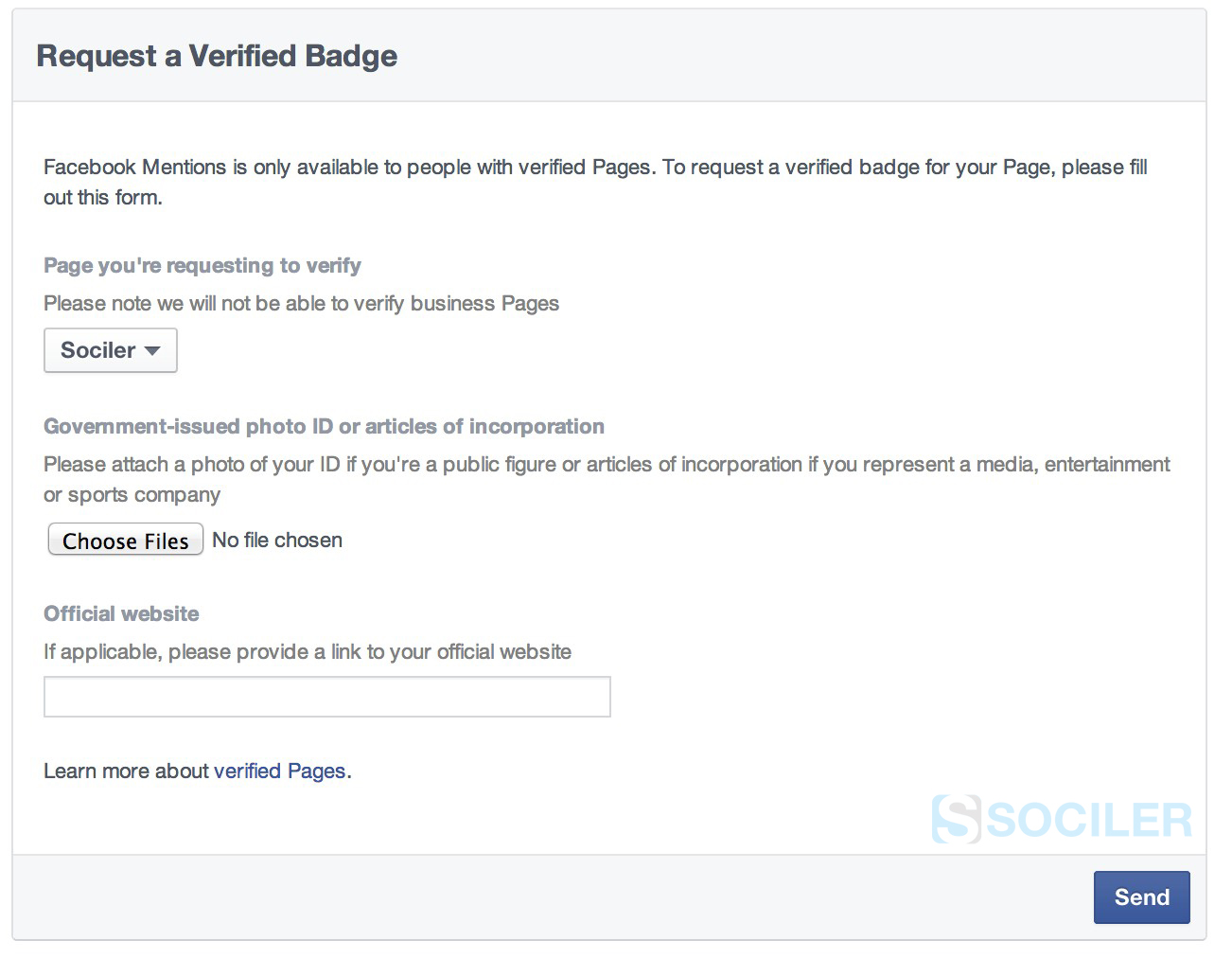Request Verified Badge on Facebook Page